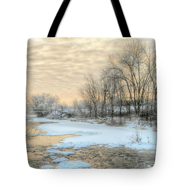Golden Sunrise Signed Tote Bag