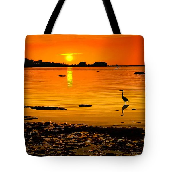 Golden Sunset At The Bay Tote Bag