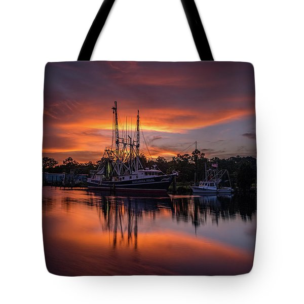 Golden Sunset On The Bayou Tote Bag