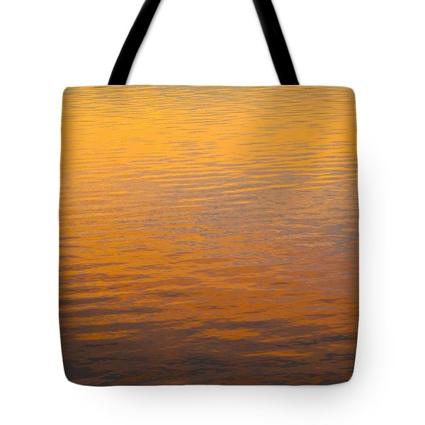 Golden Sunset Reflection Leaving Block Island Tote Bag