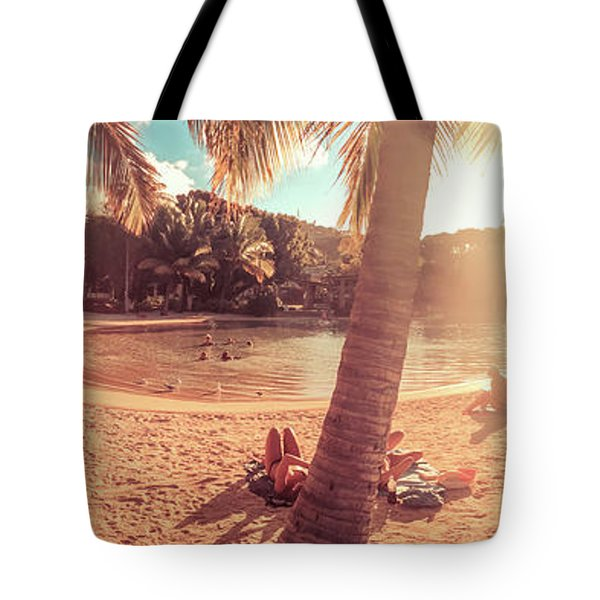 Golden Sunsets Of Airlie Beach Tote Bag