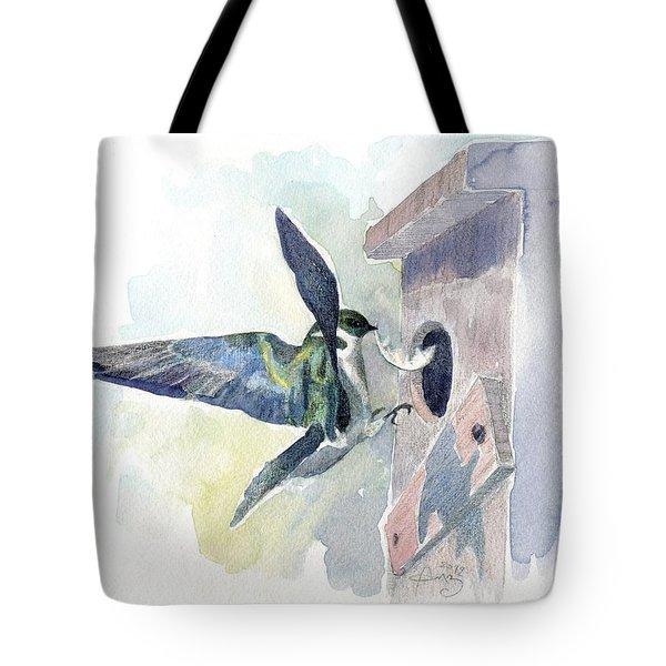 Golden Swallow Tote Bag