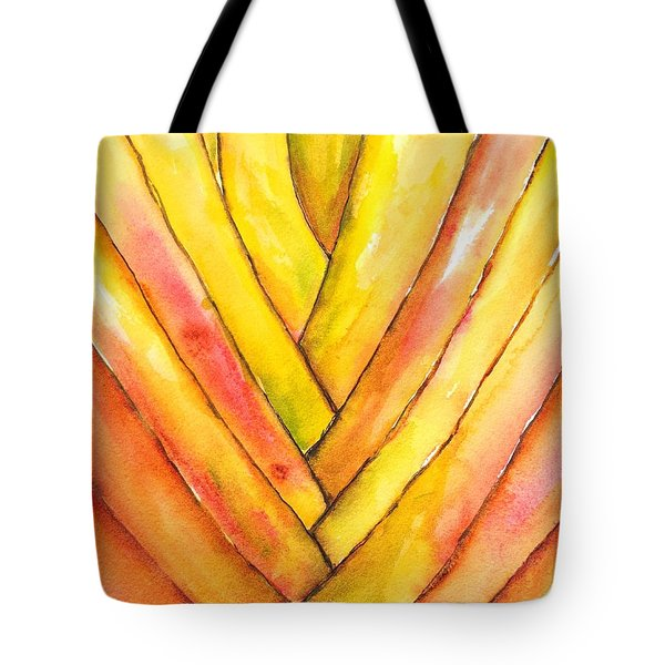 Golden Travelers Palm Trunk Tote Bag