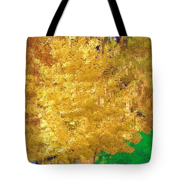 Tote Bag featuring the photograph Golden Tree by Donna Bentley