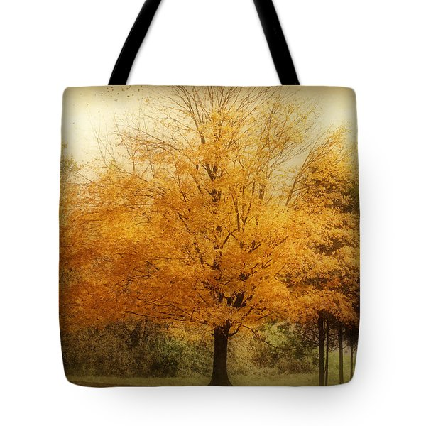 Golden Tree Tote Bag by Sandy Keeton