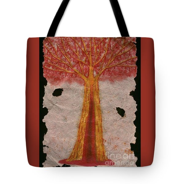 Golden Trees Crying Tears Of Blood Tote Bag