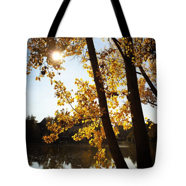 Golden Trees In Autumn Sindelfingen Germany Tote Bag by Matthias Hauser