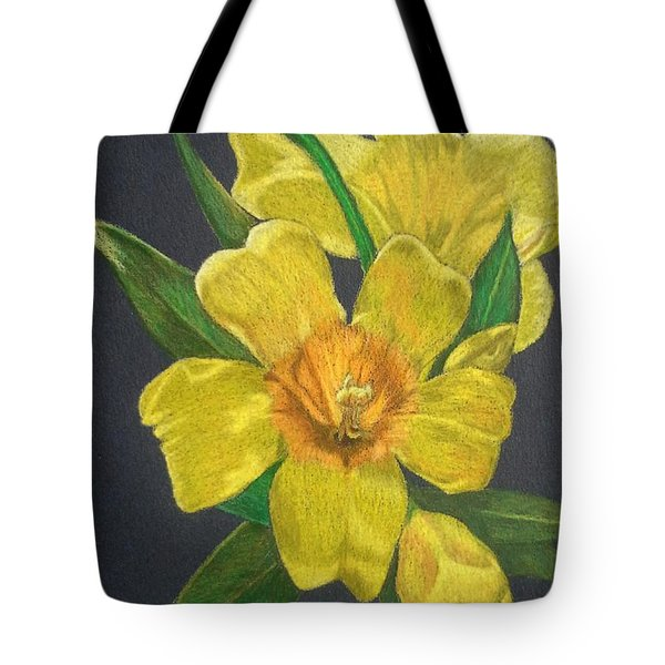 Golden Trumpet Flower - Allamanda Vine Tote Bag