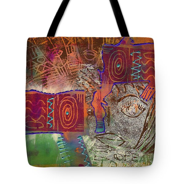 Tote Bag featuring the painting Golden Truth by Angela L Walker