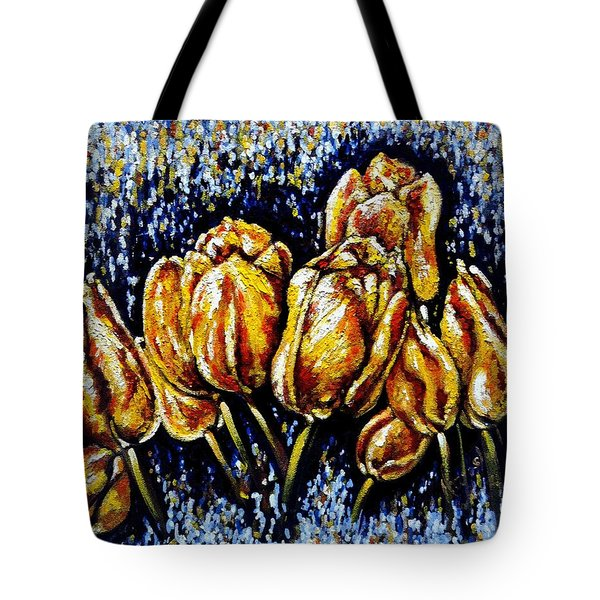 Golden Tulips Tote Bag