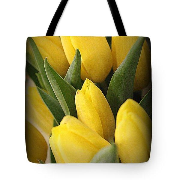 Golden Tulips Tote Bag