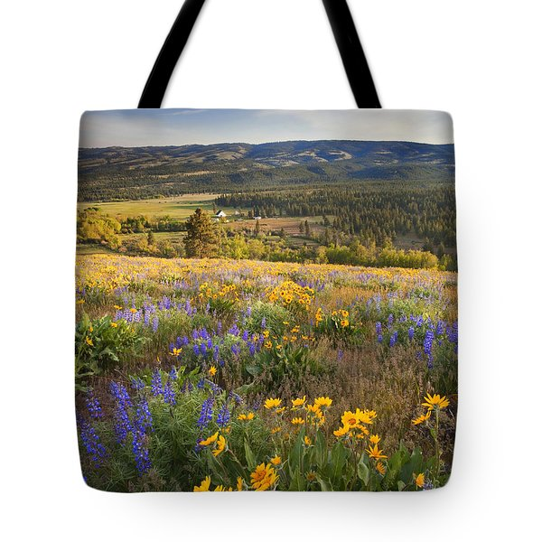 Golden Valley Tote Bag by Mike  Dawson