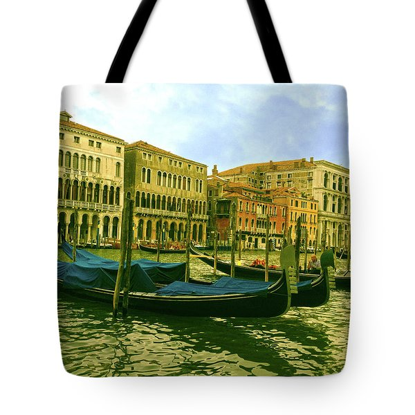 Tote Bag featuring the photograph Golden Venice by Anne Kotan