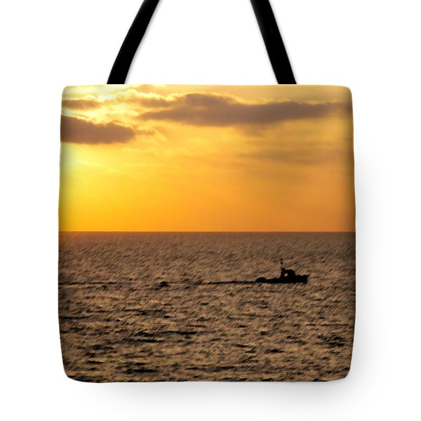 Tote Bag featuring the photograph Golden Voyage by Christopher Woods