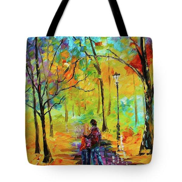 Golden Walk Tote Bag