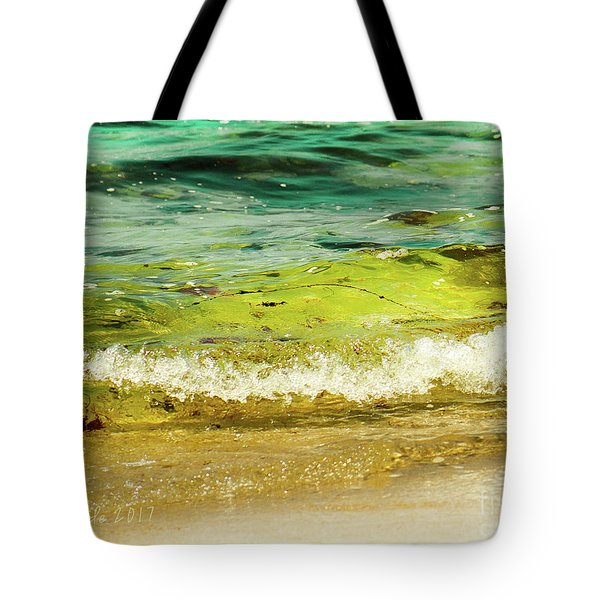 Golden Waves At Pacific Grove California Near Lover's Point Tote Bag