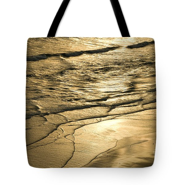 Golden Waves Tote Bag by Cindy Tiefenbrunn