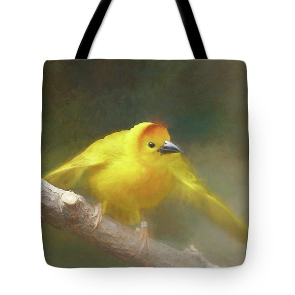 Golden Weaver - Digital Painting Tote Bag