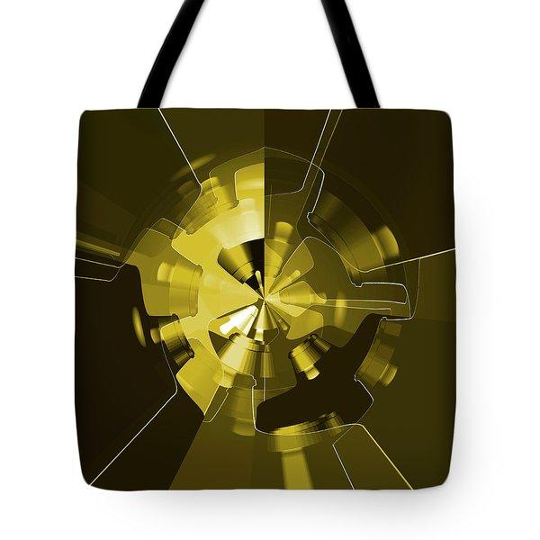 Golden Wheels Tote Bag