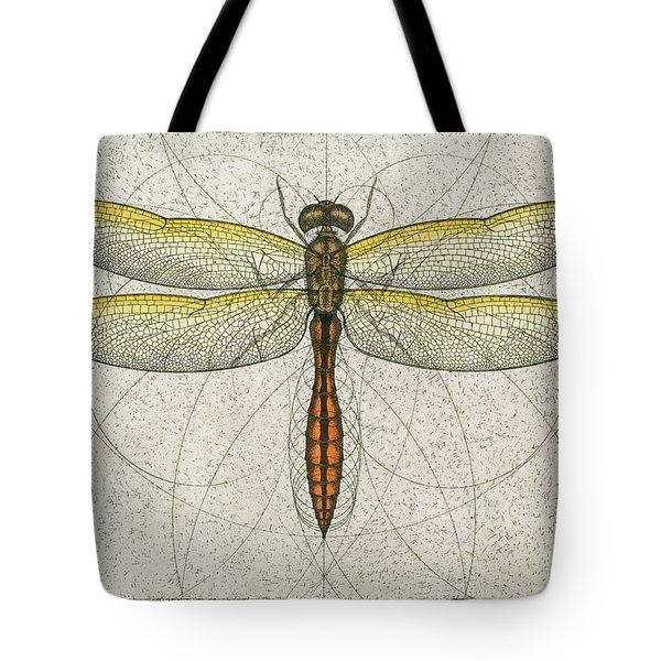 Golden Winged Skimmer Tote Bag