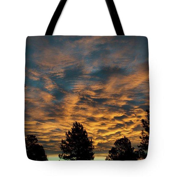 Golden Winter Morning Tote Bag