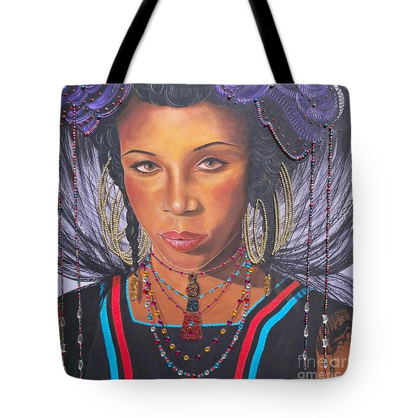 Gracious Golden Wodaabe Girl           From The Attitude Girls  Tote Bag