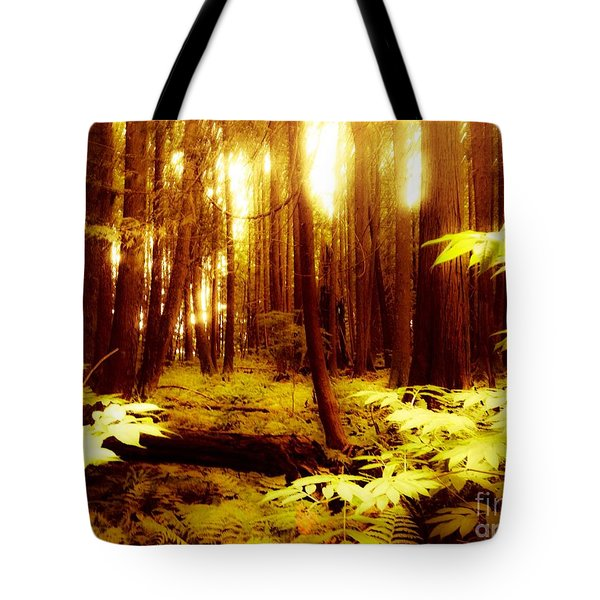 Golden Woods Tote Bag by Kim Prowse