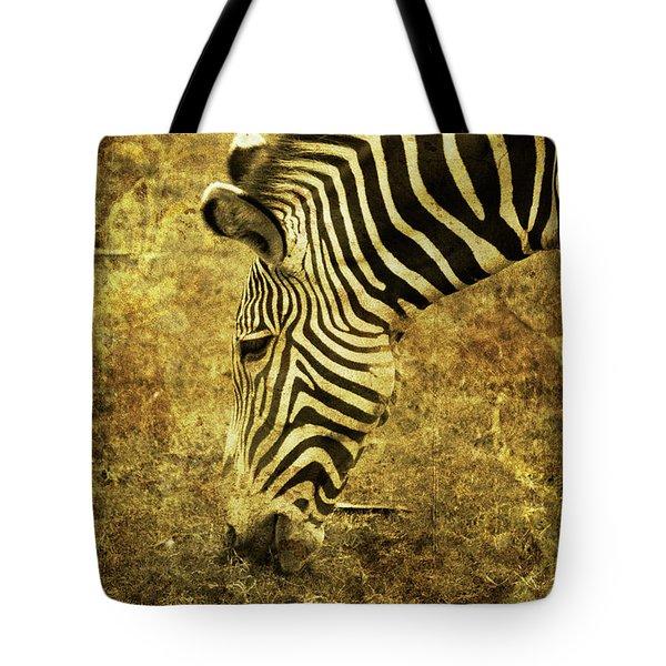 Golden Zebra  Tote Bag by Saija  Lehtonen