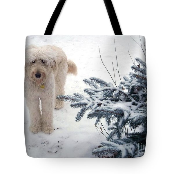 Goldendoodle Tote Bag by Andrea Kollo