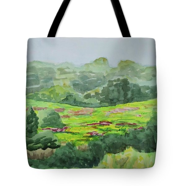 Goldenrod Field Tote Bag by Bethany Lee