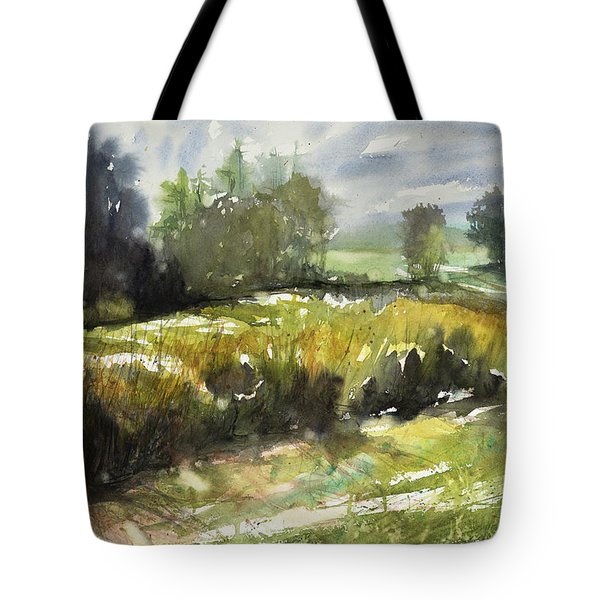 Goldenrod On The Lane Tote Bag