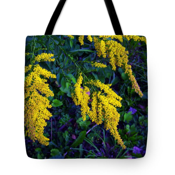 Tote Bag featuring the photograph Goldenrod by Shawna Rowe