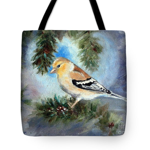 Goldfinch In A Tree Tote Bag