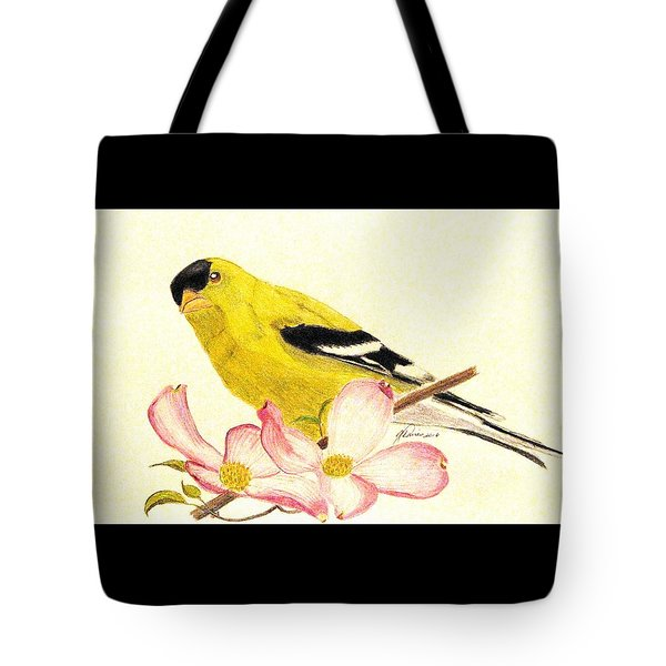 Goldfinch Spring Tote Bag
