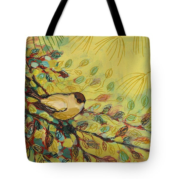 Goldfinch Waiting Tote Bag