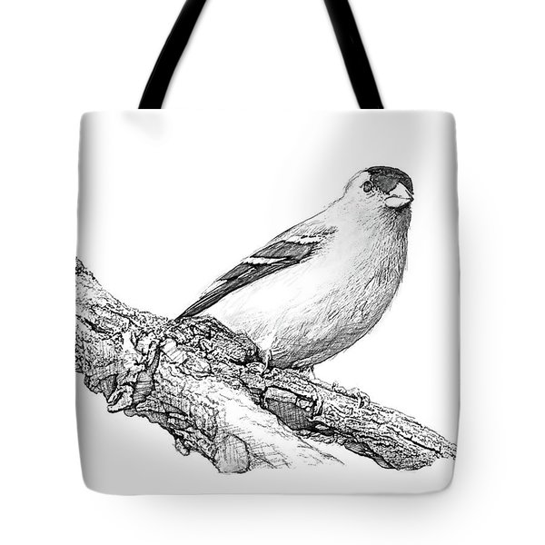 Goldfinch B And W Tote Bag
