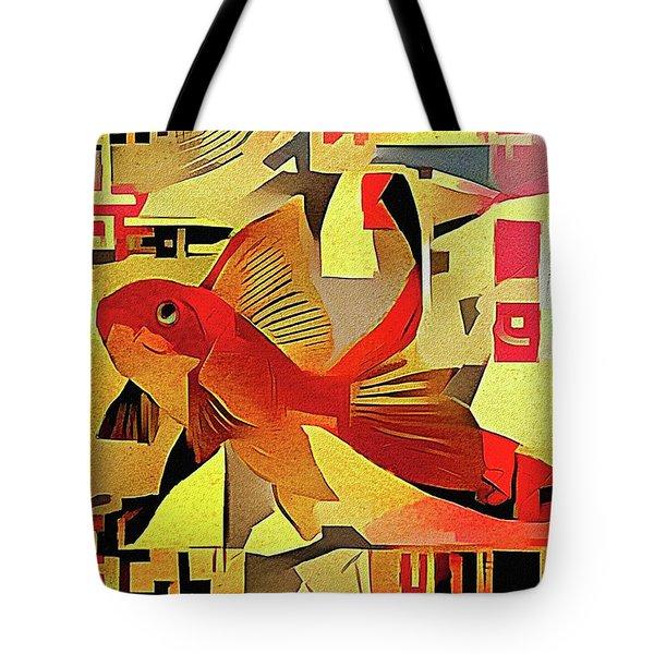 Goldfish #1 Tote Bag