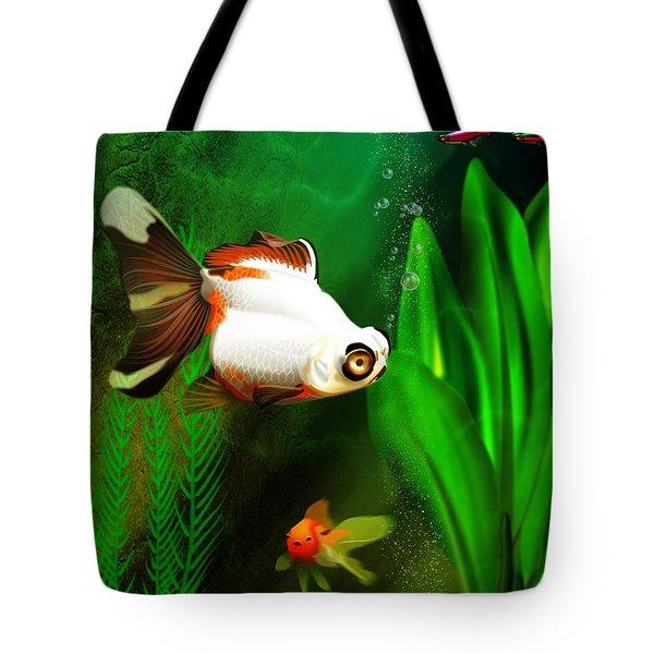 Goldfish Aquarium Tote Bag by John Wills