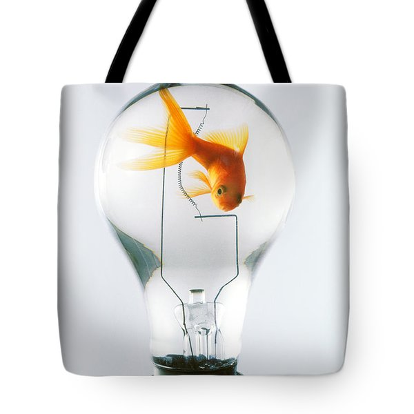 Goldfish In Light Bulb  Tote Bag