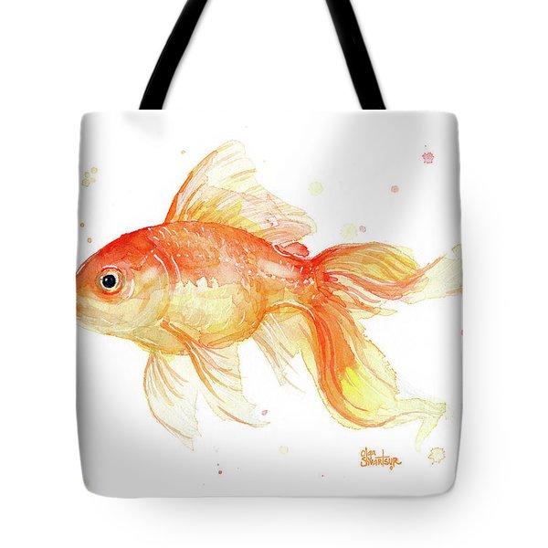 Goldfish Painting Watercolor Tote Bag