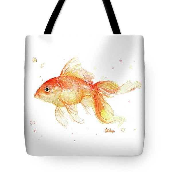 Goldfish Painting Watercolor Tote Bag