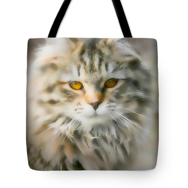 Goldie Golden Eyes Tote Bag by Cathy Harper