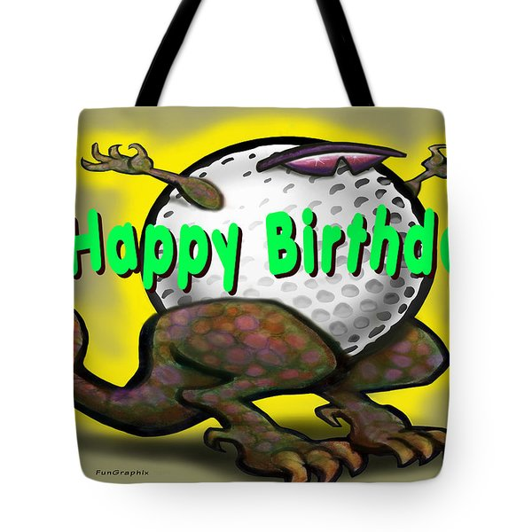 Golf A Saurus Birthday Tote Bag by Kevin Middleton