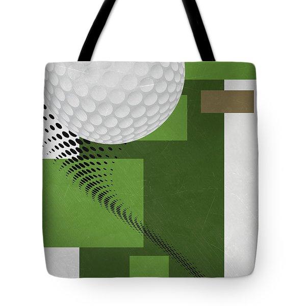 Golf Art Par 4 Tote Bag
