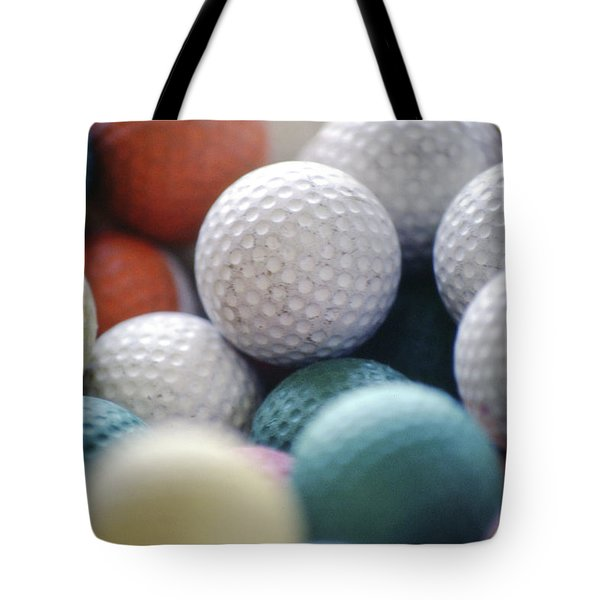 Golf Balls Tote Bag