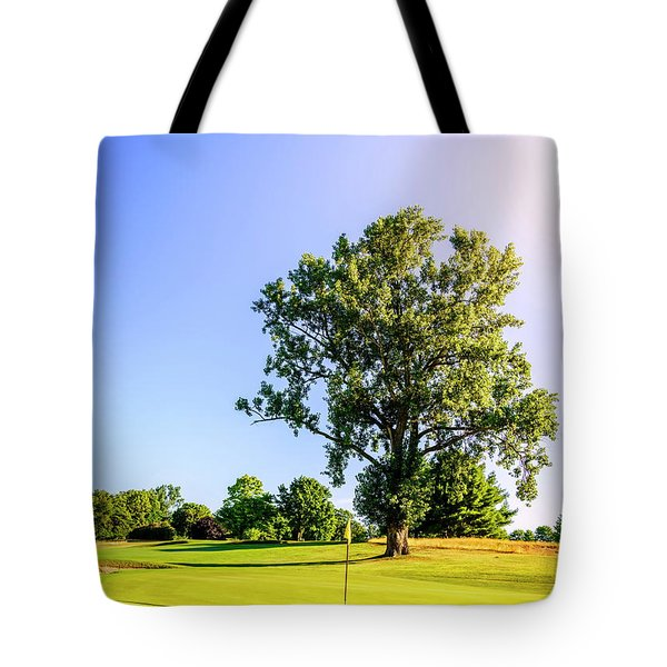 Tote Bag featuring the photograph Golf Course by Alexey Stiop