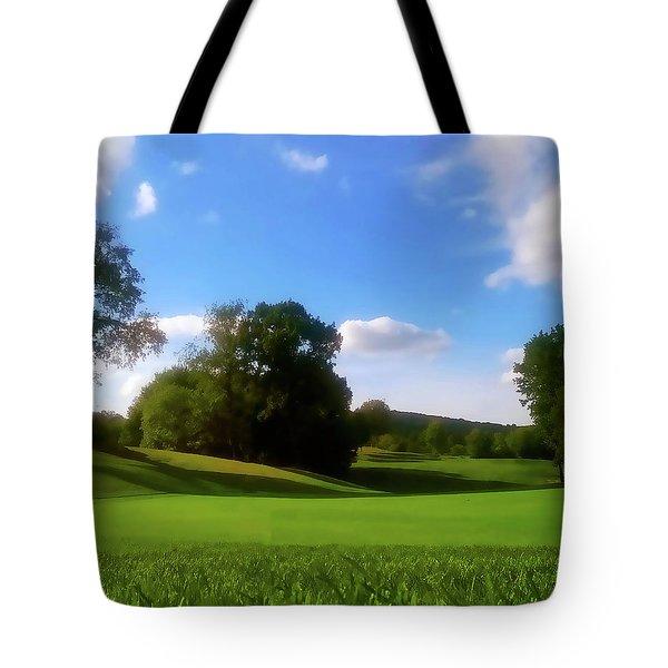 Golf Course Landscape Tote Bag