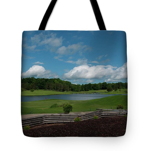 Golf Course The Back 9 Tote Bag by Chris Flees