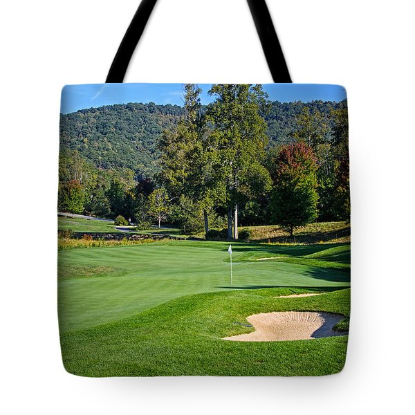 Tote Bag featuring the photograph Early Autumn Golf by Claire Turner