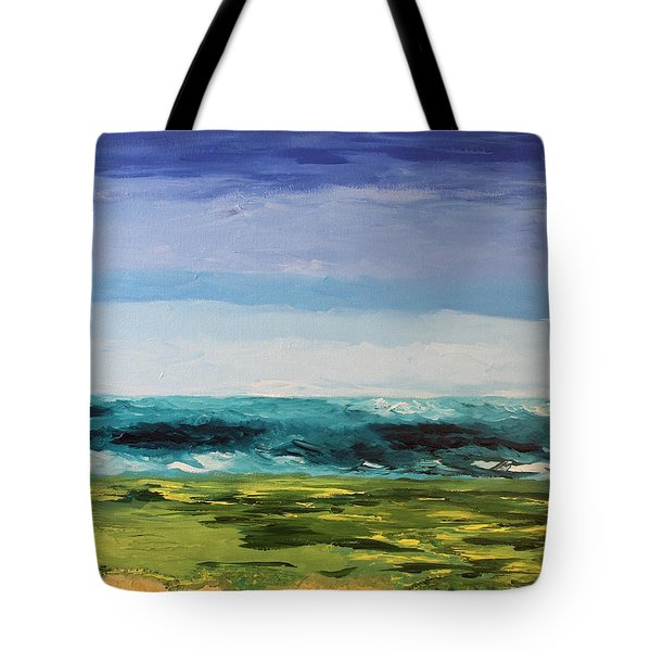 Tote Bag featuring the painting Golf by Geeta Biswas